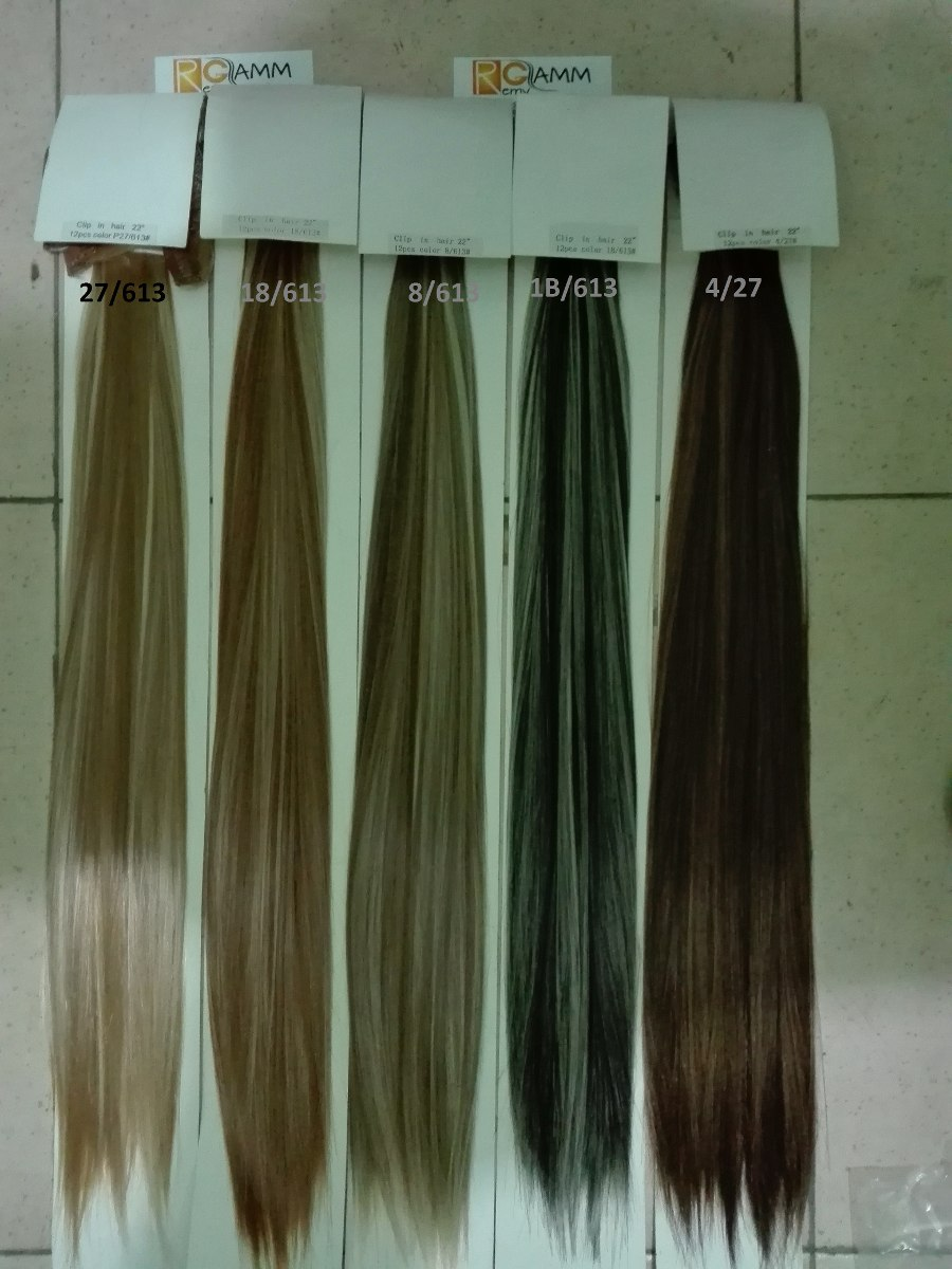 12 cortinas extensiones de cabello clip on fibra natural en mercado libre - Extensiones de pelo natural cortinas ...