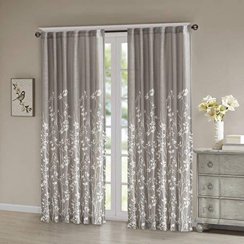 Cortinas grises para la sala de estar cortinas de tela for Cortinas para sala de estar