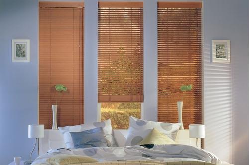 cortinas horizontal de madera sunset  persiana americana