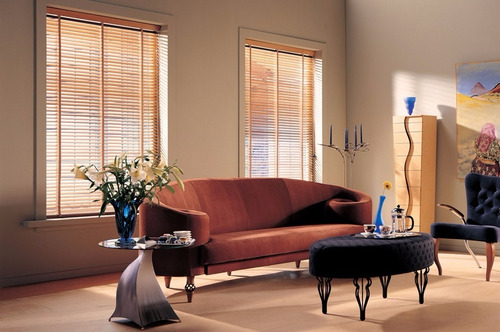 cortinas horizontal de madera sunset  persiana americana