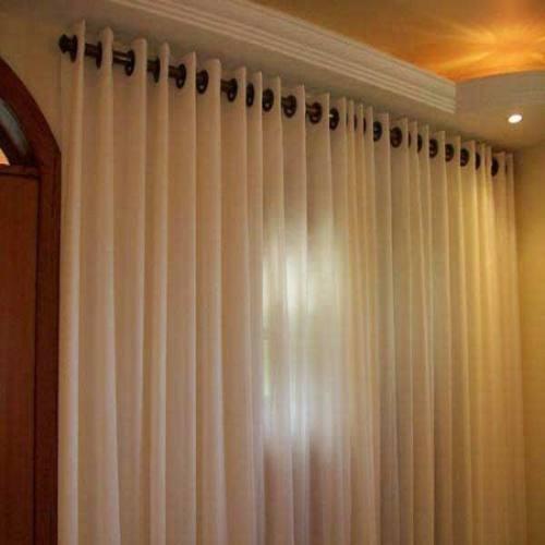 cortinas ilhos tecido rustico 3,00x2,60