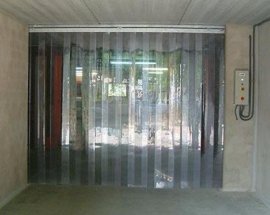 Cortinas industriales persianas en tiras de pvc Cortinas plegables de pvc