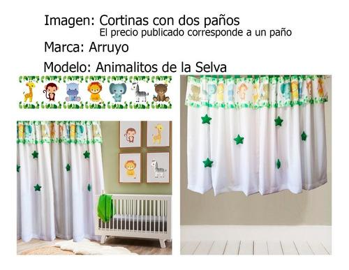 cortinas infantiles niños bebes paño  largo premium