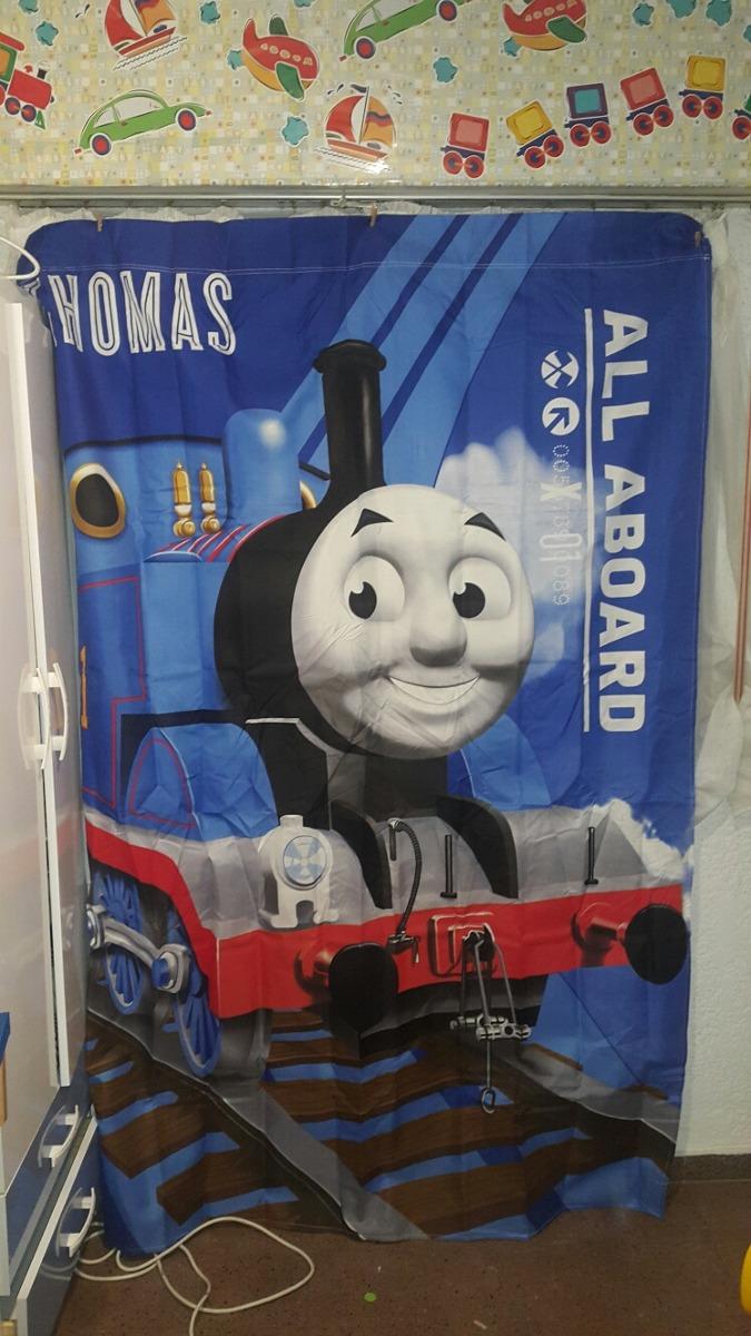 Cortinas Infantiles Thomas And Friends Color Azul Nuevas - $ 420,00 ...
