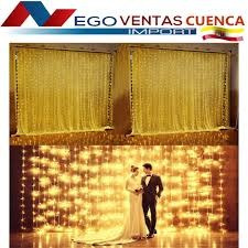 cortinas led 320 luces eventos decoracion calido blanco