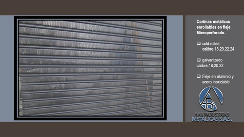 cortinas metálicas enrollables