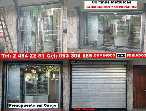 cortinas metálicas enrollar fabricación reparación resortes