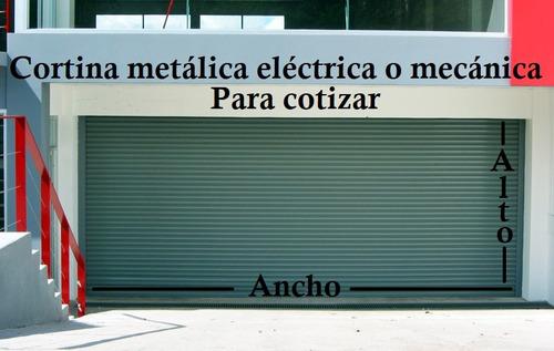 cortinas metalicas mecanica electrica inteligente porton