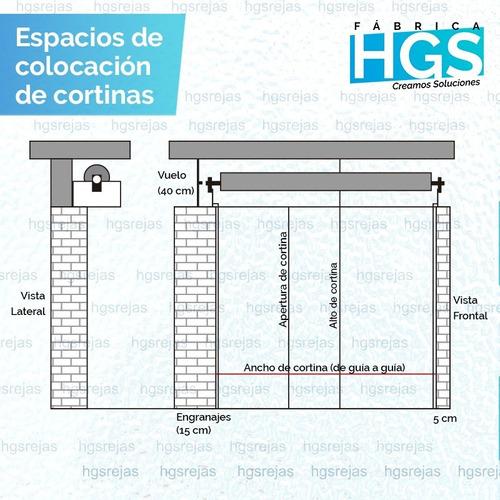 cortinas metálicas oferta de 3.50x3.00 galvanizada comercio
