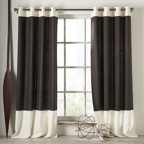 cortinas modernas con barras de acero decorartehogar