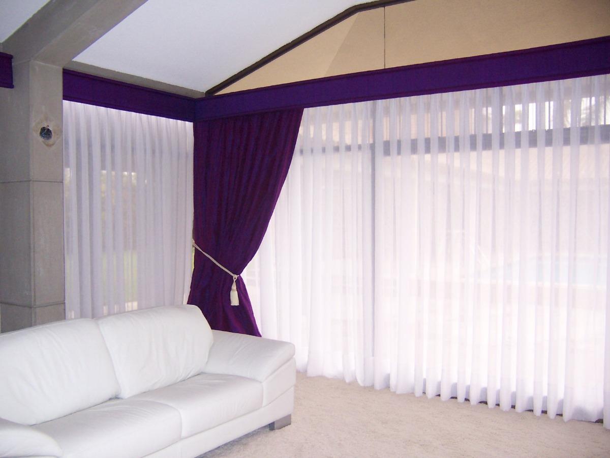 Cortinas modernas para sala con barra de acero inoxidable - Modelos de cortinas infantiles ...