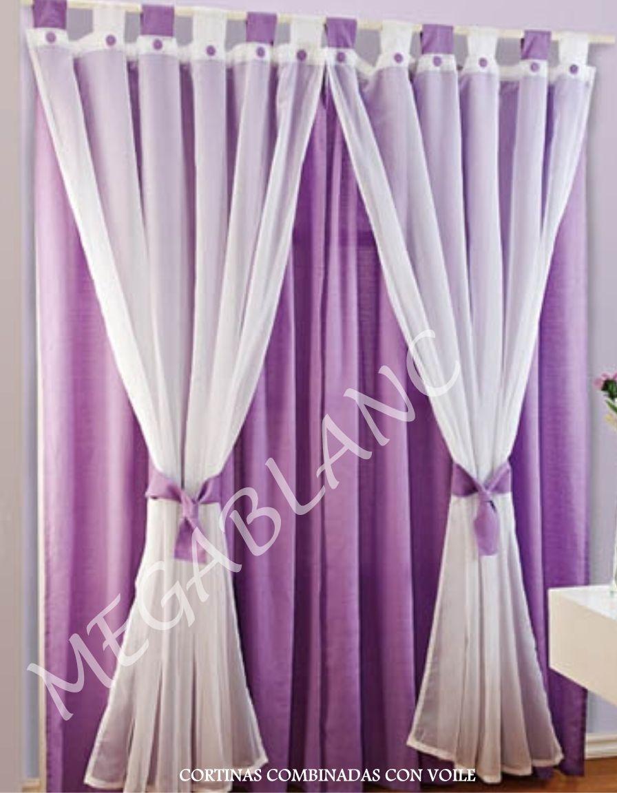 Cortinas modernas ventanas espacios camas cunas for Cortinas de visillo para salon