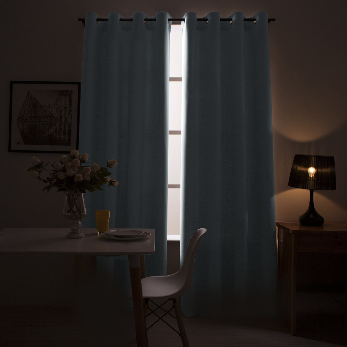 Cortinas Oscuras Moderadas Para El Dormitorio Cortinas Co - $ 148.900 en  Mercado Libre