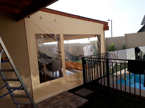 cortinas panoramica cierre terraza tela pvc sin arrugas