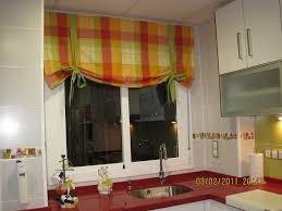 cortinas  para cocina o comedor en lona, lienzo