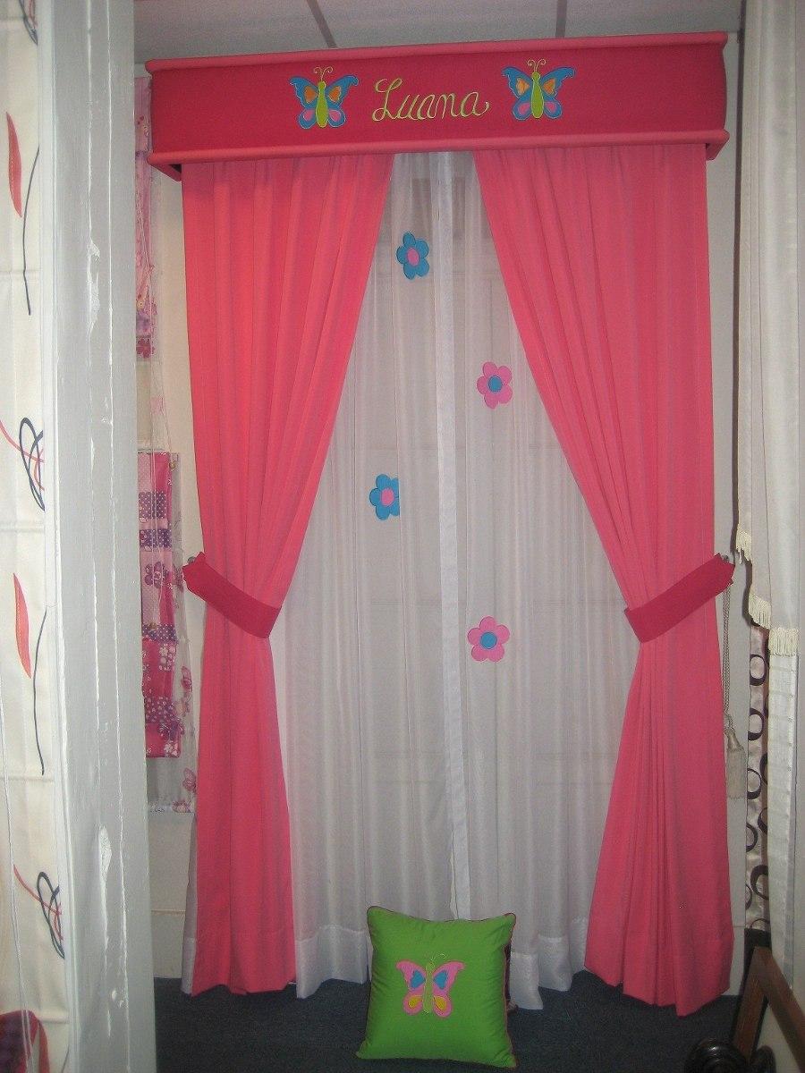 Cortinas para cuartos de ni as con aplicaciones de for Cortinas habitacion bebe