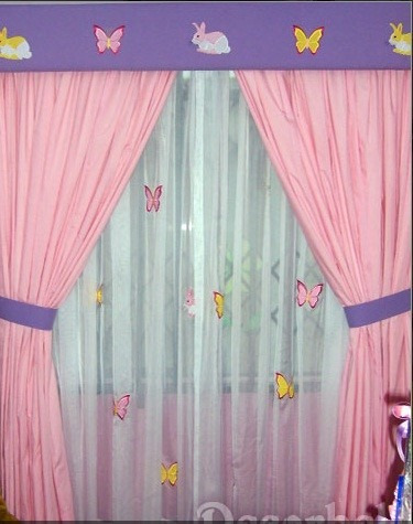 Cortinas Para Cuartos De Niñas Con Aplicaciones De Princesas