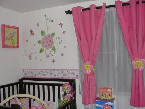 Cortinas para cuartos de ni as con aplicaciones de - Modelos de cortinas infantiles ...