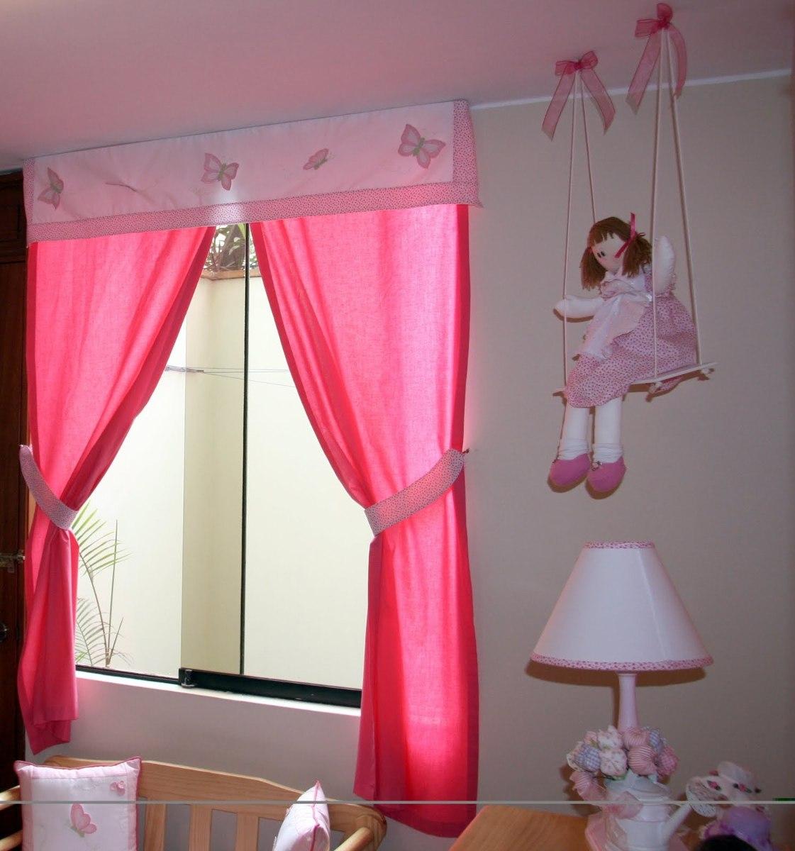 Cortinas para cuartos de ni as con aplicaciones de for Ver modelos de dormitorios