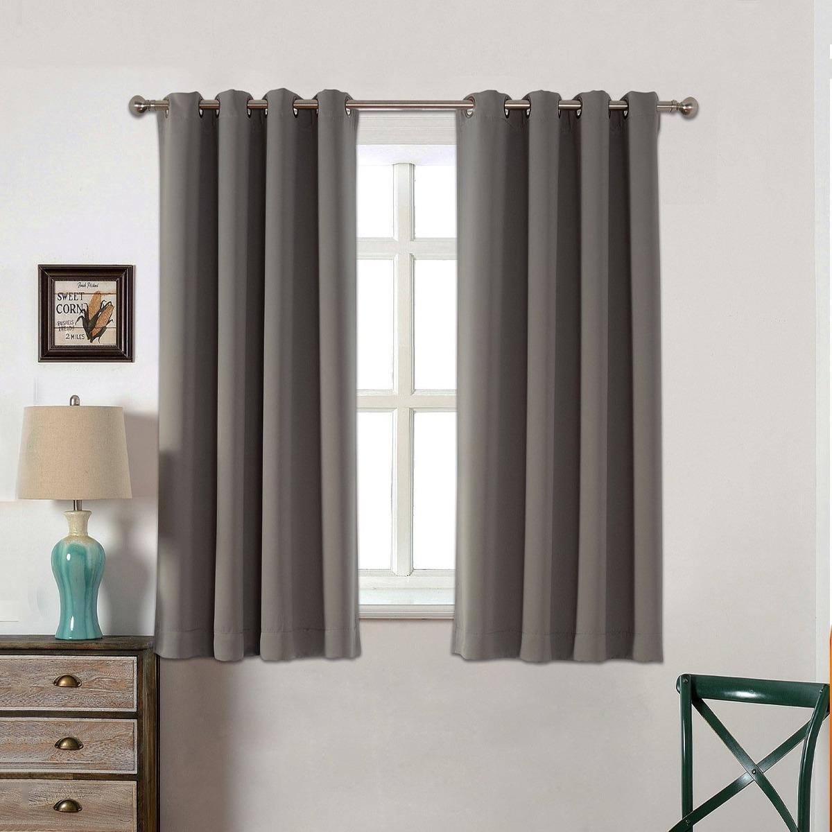 Cortinas para dormitorio acelitor 52x63 pulg gris for Cortinas para habitacion