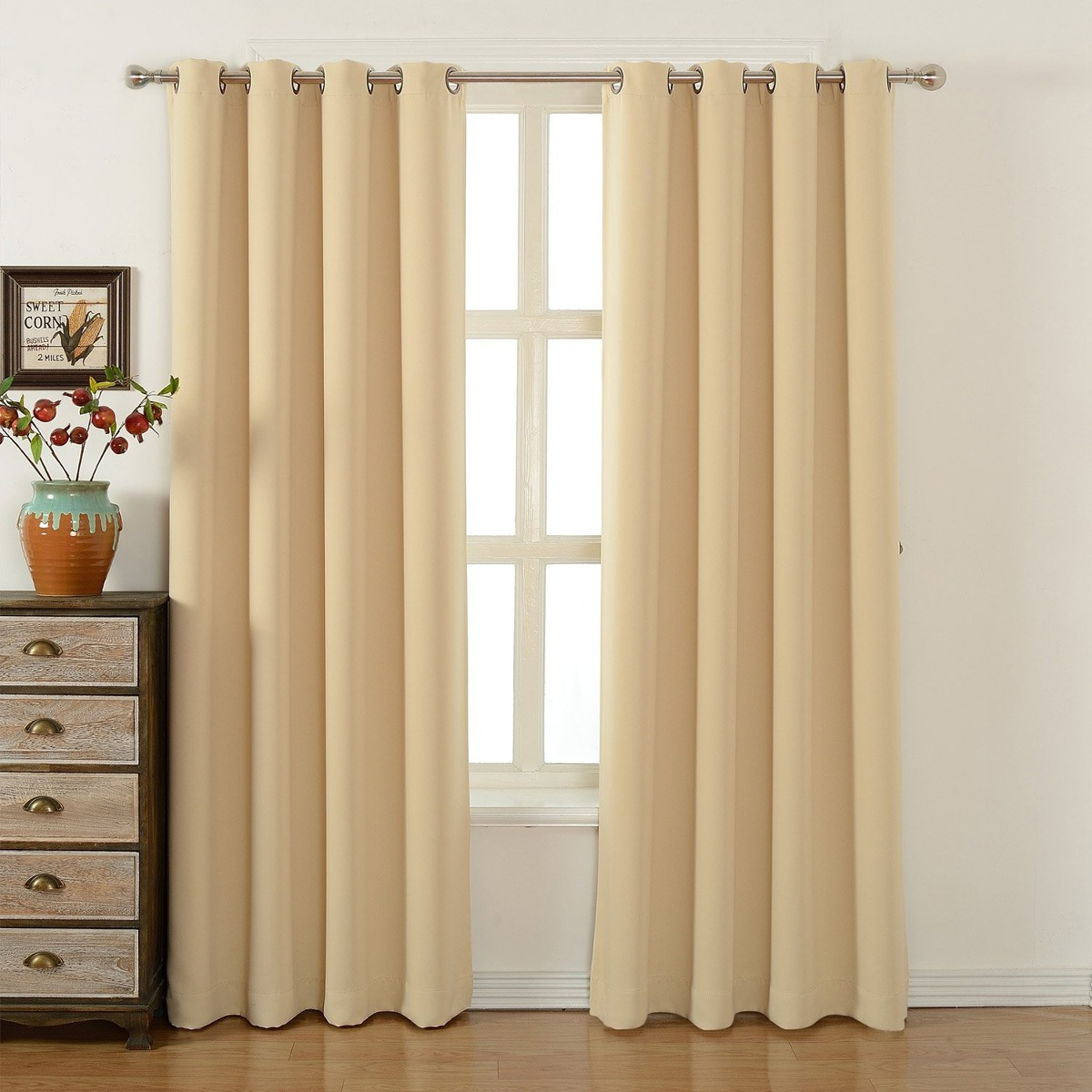 Cortinas para dormitorio acelitor 52x84 pulg beige - Fotos cortinas dormitorio ...