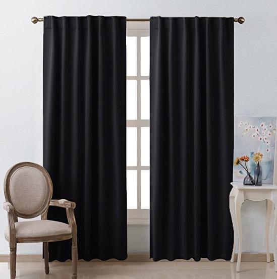 Cortinas para habitacion negras 1 en mercado libre - Cortinas negras decoracion ...