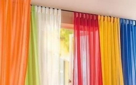 Cortinas popurry home de telas livianas dopiovelo bs for Ganchos para cortinas de tela