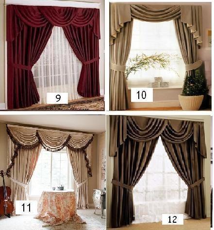 Cortinas popurry home para salas drapeadas y con cenefas for Cortinas elegantes para sala