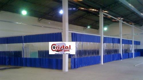 cortinas pvc e lona p/ fechamento box cabine d pintura