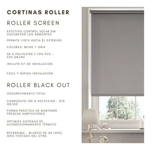 cortinas roller black out 100% opacas , 210x240