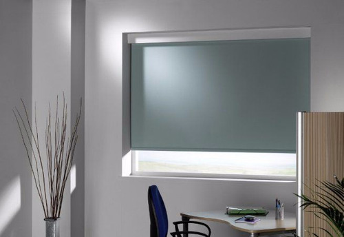 cortinas roller black out color blanco 5 capas blackout m2