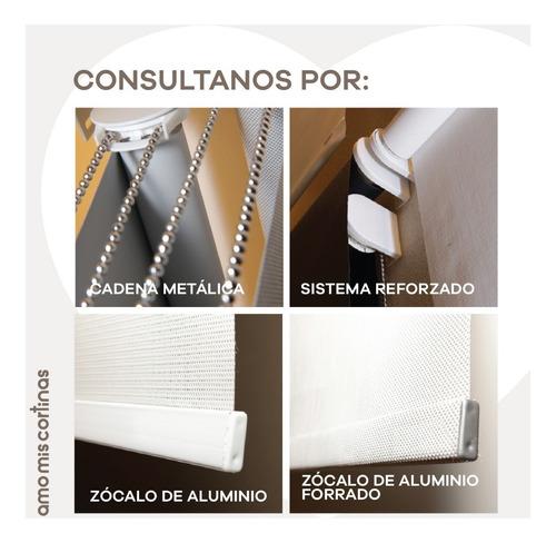 cortinas roller black out color blanco 5 capas por m2