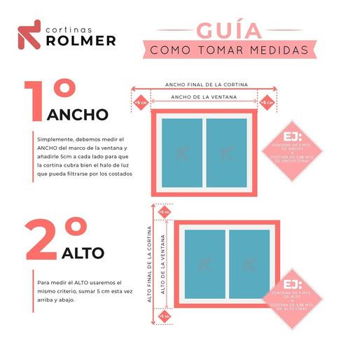 cortinas roller black out con guias laterales 100% opacidad