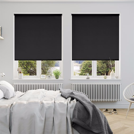 Cortinas Roller Black Out Negra 1.2 X 1.1 Mod E roll M1211n