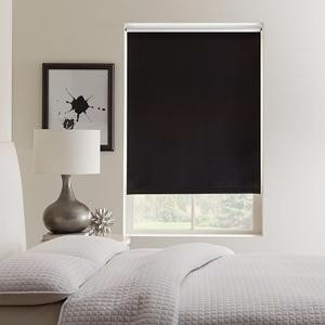 cortinas roller black out negra 1.5 x 1.8  mod e-roll m1518n