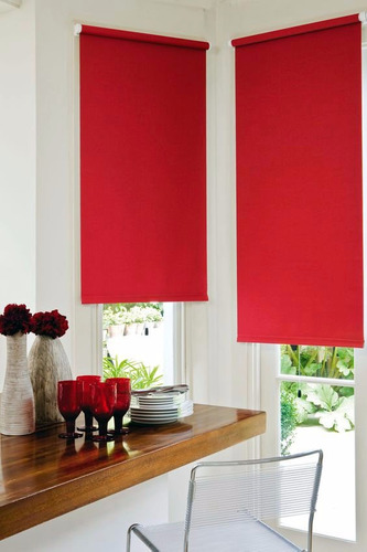 cortinas roller black out rojas 1m x 1.5m mod. e-roll r115