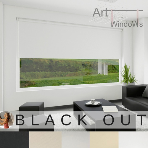 cortinas roller black out vinilico alemán blackout  4 capas!
