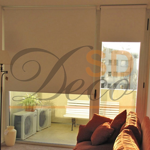 cortinas roller black out vinílico - sd deco belgrano
