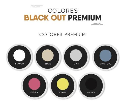 cortinas roller blackout 100% bloqueo vinilica origen usa m2