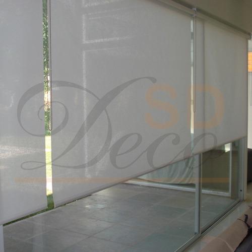 cortinas roller de sun screen 10% sd deco showroom belgrano