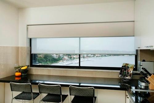 cortinas roller dobles blackout + sun screen importadas usa