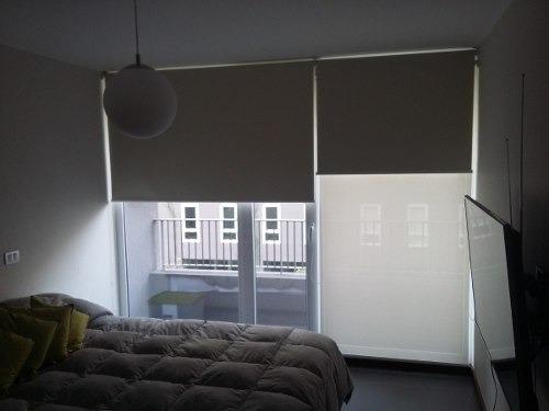 cortinas roller  dual (dobles) valor por metro cuadrado