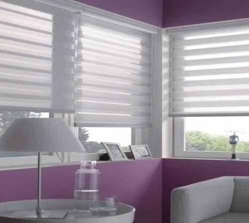 cortinas roller duo - zebra 100% importada usa
