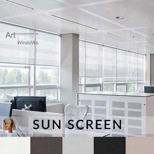cortinas roller screen 10% oferta blanco garantia sunscreen