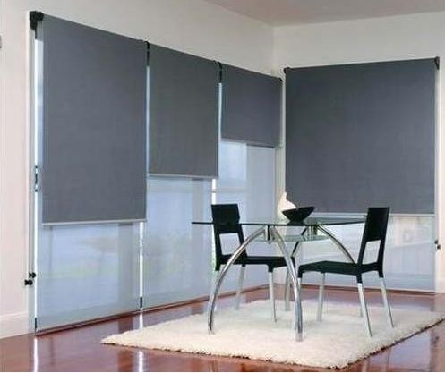 Cortinas roller screen black out duo zebra al mejor for Cortinas black out precios