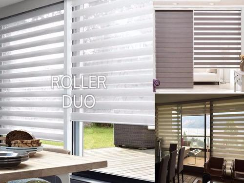 cortinas roller screen, blackout, duos, somos fabricantes!