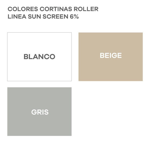 cortinas roller sun screen 6% usa para inst. en sistem. m2