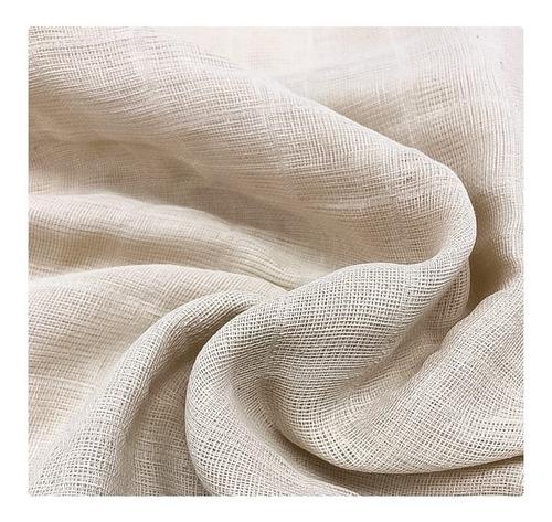 cortinas rusticas artesanales - en tela gasa doble tejido