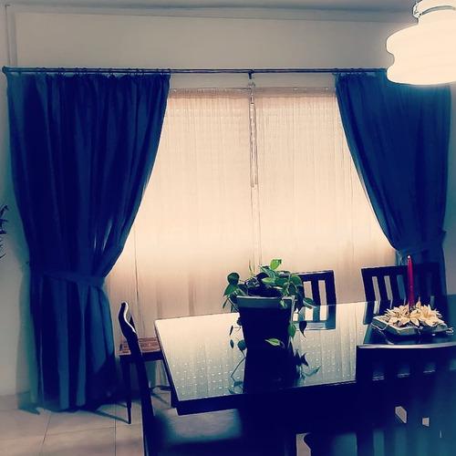cortinas rusticas artesanales - en tela lienzo pesado crudo