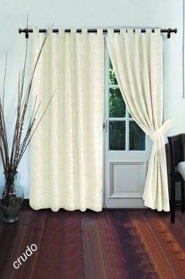 cortinas rusticas crudas tramadas c/presillas y agarraderas